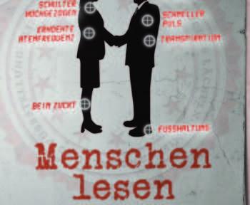 """Das Buchcover von """"Menschen lesen"""" zeigt die Umrisse von zwei Personen, die sich unterhalten"""