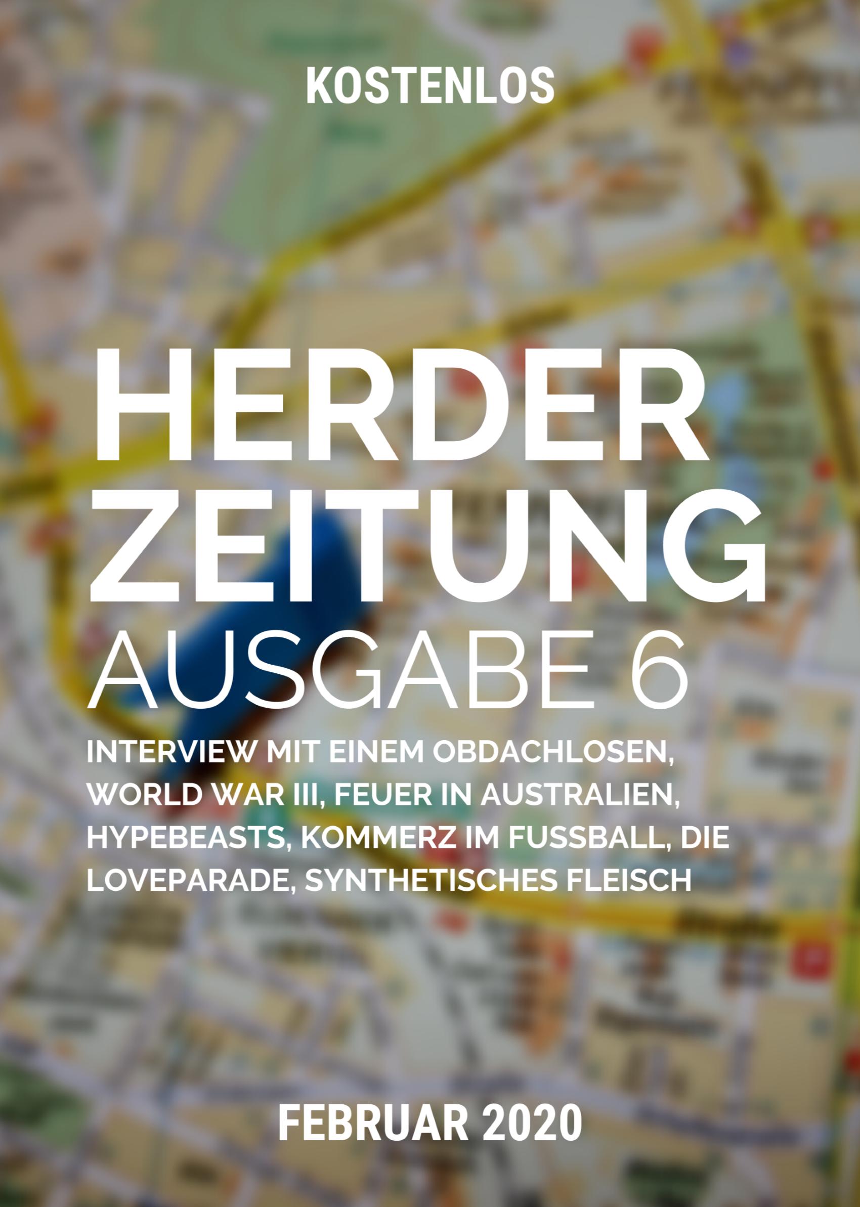Das Cover der sechsten Ausgabe zeigt eine Landkarte.