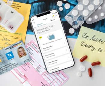 Screenshot der App zur elektronischen Patientenakte